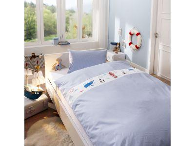 Lorenchen von Lorena Mako-Batist Kinder Bettwäsche Leuchtturm blau