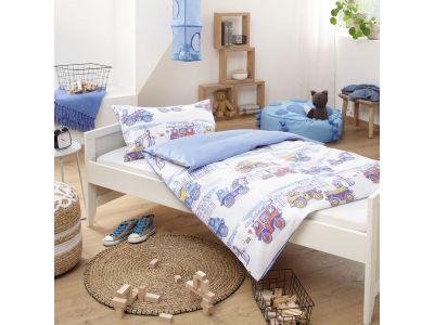 Lorenchen von Lorena Mako-Satin Kinder Bettwäsche Baumeister
