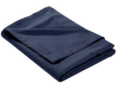 Mako Satin Bettlaken ohne Gummizug dunkelblau
