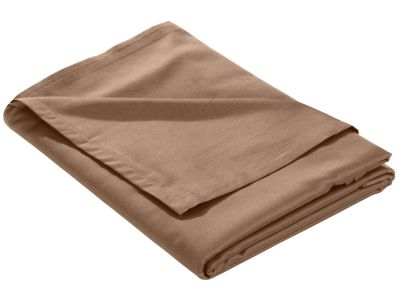 Mako Satin Bettlaken ohne Gummizug hellbraun