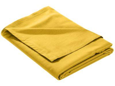 Mako Satin Bettlaken ohne Gummizug gelb