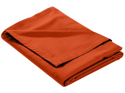 Mako Satin Bettlaken ohne Gummizug orange