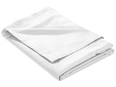 Mako Satin Bettlaken ohne Gummizug weiß