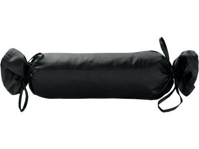 Mako Satin / Baumwollsatin Nackenrollen Bezug uni / einfarbig anthrazit 15x40 cm mit Bändern
