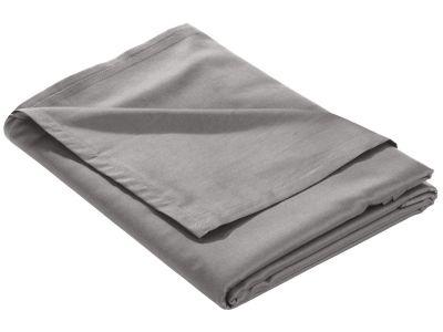 Mako Satin Bettlaken ohne Gummizug dunkelgrau