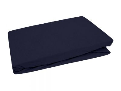 Bettwaesche-mit-Stil Jersey Spannbettlaken dunkelblau