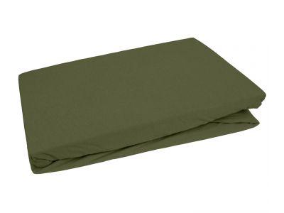 Bettwaesche-mit-Stil Jersey Spannbettlaken dunkelgrün