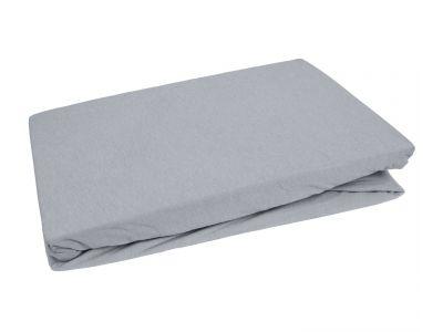 Bettwaesche-mit-Stil Jersey Spannbettlaken grau
