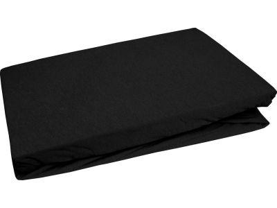 Bettwaesche-mit-Stil Jersey Spannbettlaken schwarz