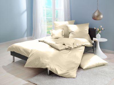 Lorena Mako-Satin uni einfarbige Bettwäsche Classic beige