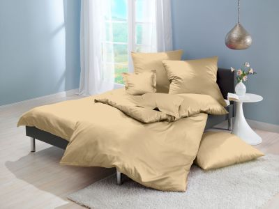 Lorena Mako-Satin uni einfarbige Bettwäsche Classic caramel
