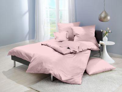 Lorena Mako-Satin uni einfarbige Bettwäsche Classic rose-rosa