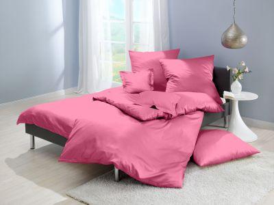 Lorena Mako-Satin uni einfarbige Bettwäsche Classic pink