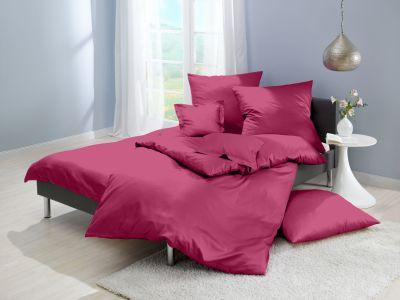 Lorena Mako-Satin einfarbige Bettwäsche Classic cyclam