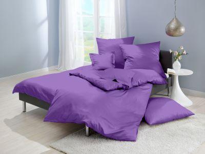 Lorena Mako-Satin einfarbige Bettwäsche Classic lila