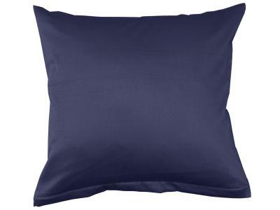 Lorena Mako-Satin einfarbiges Kissen Classic marineblau