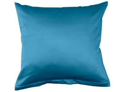Lorena Mako-Satin einfarbiges Kissen Classic ozeanblau