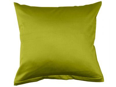 Lorena Mako-Satin einfarbiges Kissen Classic apfelgrün