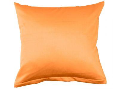 Lorena Mako-Satin uni einfarbiges Kissen Classic mandarin-orange