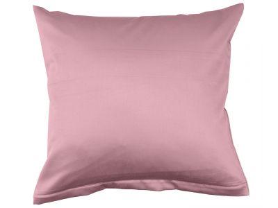 Lorena Mako-Satin uni einfarbiges Kissen Classic woodrose-rosa