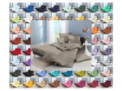 Lorena Mako-Satin einfarbige Bettwäsche 155x220 Classic