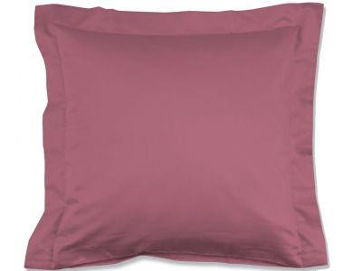 Lorena Mako-Satin einfarbiges Kissen mit Stehsaum Classic rosa