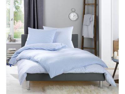 Lorena Fein FlanellBettwäsche 200x220 cm Daphne Karo und Streifen blau