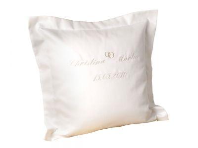 Lorena Hochzeitskissen-Bezug mit Stickerei Weiß