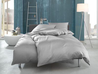 """Mako Interlock Jersey Bettwäsche """"Ina"""" uni / einfarbig grau von Bettwaesche-mit-Stil"""