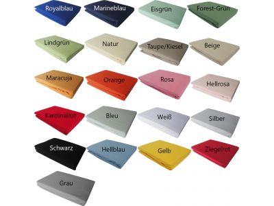 Bettwaesche-mit-Stil Jersey Spannbettlaken in vielen Größen und Farben