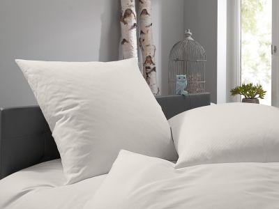 Lorena Damast Mako-Satin Streifen Bettwäsche 155x220 Toscana 2mm natur