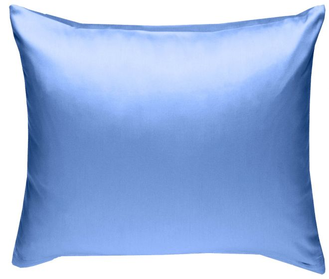 Mako Satin Kissenbezug hellblau 100% Baumwolle von Bettwaesche-mit-Stil