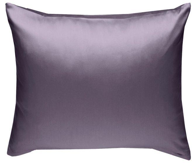 Mako Satin Kissenbezug lila 100% Baumwolle von Bettwaesche-mit-Stil