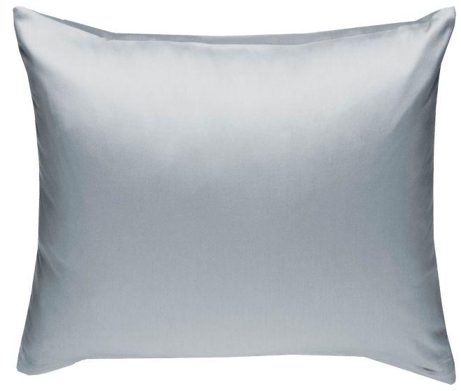 Mako Satin Kissenbezug grau 100% Baumwolle von Bettwaesche-mit-Stil