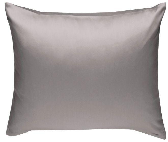 Mako Satin Kissenbezug dunkelgrau 100% Baumwolle von Bettwaesche-mit-Stil