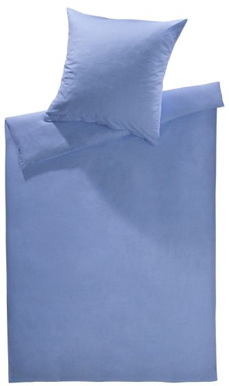 Lorena Fein FlanellBettwäsche 200x220 cm Daphne Uni blau