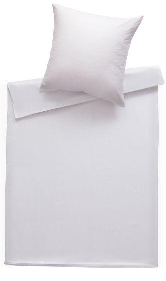 Mako Satin Damast Bettwäsche 200x220 cm Stripes 2mm weiß