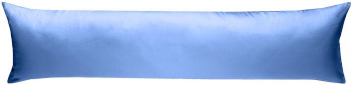 Mako-Satin Seitenschläferkissen Bezug uni / einfarbig hellblau 40x145 cm von Bettwaesche-mit-Stil