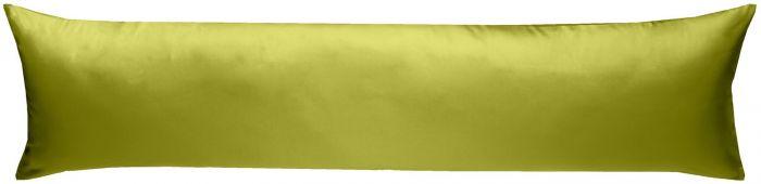 Mako-Satin Seitenschläferkissen Bezug uni / einfarbig grün 40x145 cm von Bettwaesche-mit-Stil
