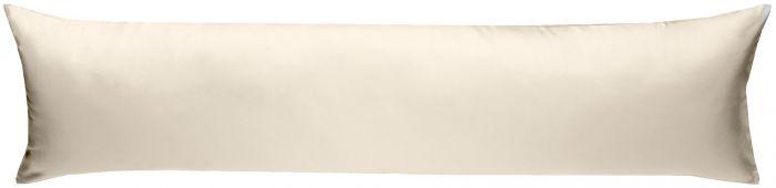 Mako-Satin Seitenschläferkissen Bezug uni / einfarbig natur (beige) 40x145 cm von Bettwaesche-mit-Stil