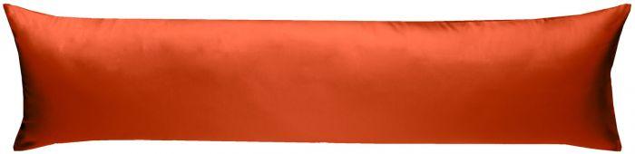Mako-Satin Seitenschläferkissen Bezug uni / einfarbig orange 40x145 cm von Bettwaesche-mit-Stil