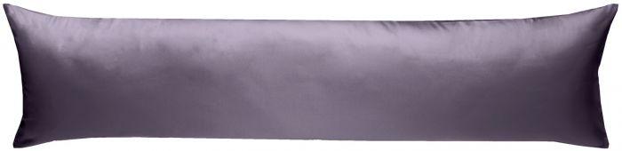 Mako-Satin Seitenschläferkissen Bezug uni / einfarbig lila 40x145 cm von Bettwaesche-mit-Stil