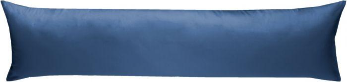 Mako-Satin Seitenschläferkissen Bezug uni / einfarbig jeans blau 40x145 cm von Bettwaesche-mit-Stil