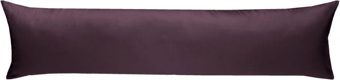 Mako-Satin Seitenschläferkissen Bezug uni / einfarbig brombeer 40x145 cm von Bettwaesche-mit-Stil
