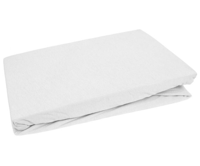 Bettwaesche-mit-Stil Jersey Spannbettlaken weiß