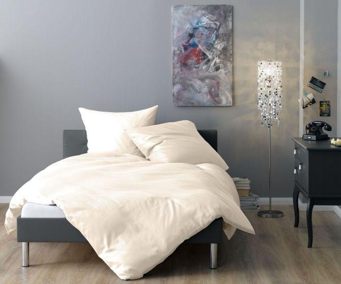 Lorena Mako Satin Streifen Bettwäsche 200x220 cm Venedig natur