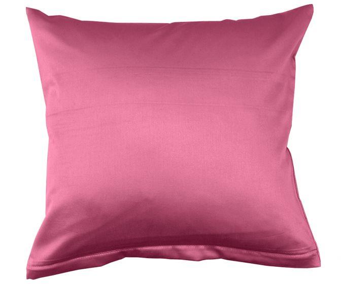 Lorena Mako Satin Bettwäsche uni Classic Pink Kissenbezug