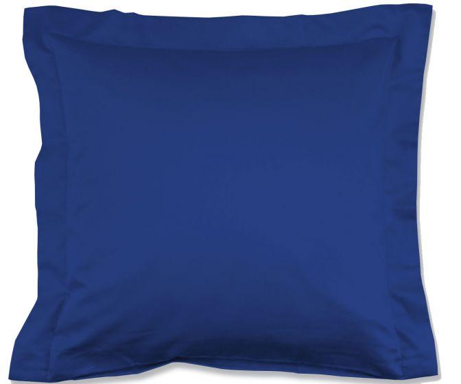 Lorena Mako-Satin einfarbiges Kissen mit Stehsaum Classic royalblau