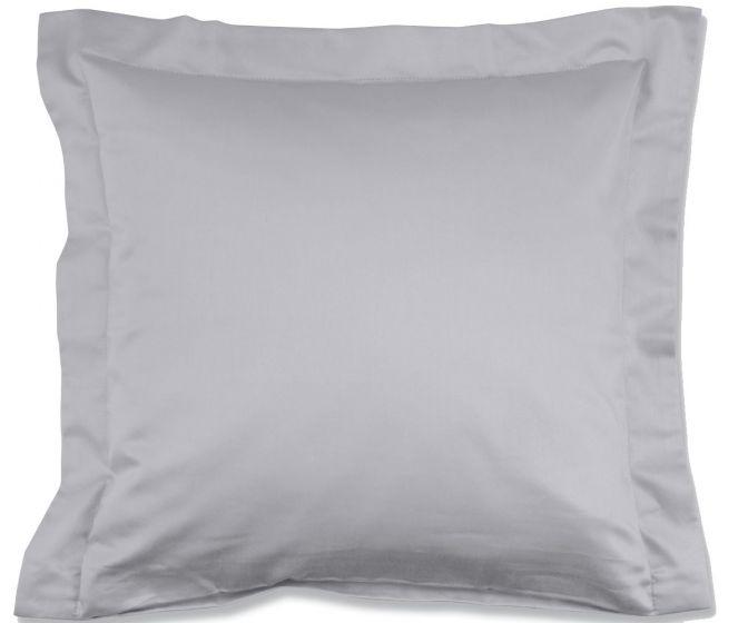 Lorena Mako-Satin einfarbiges Kissen mit Stehsaum Classic grau