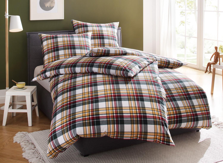 bettwaesche mit stil karo feinflanell landhaus bettw sche. Black Bedroom Furniture Sets. Home Design Ideas
